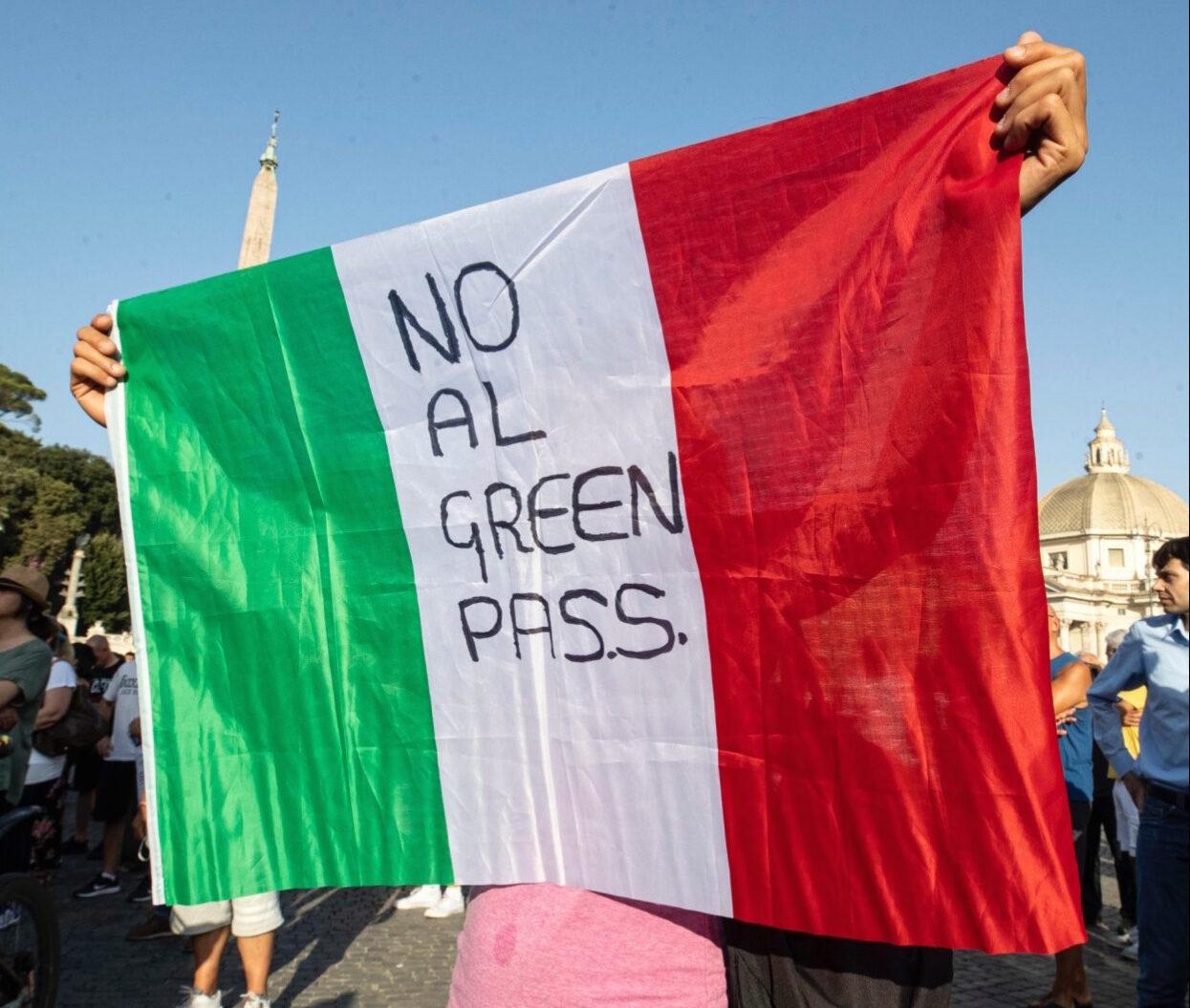 No Vax Green Pass Artigiani