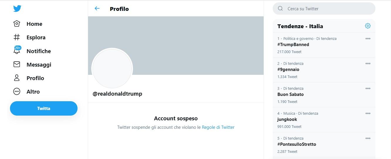 Twitter Ha Cacciato Trump