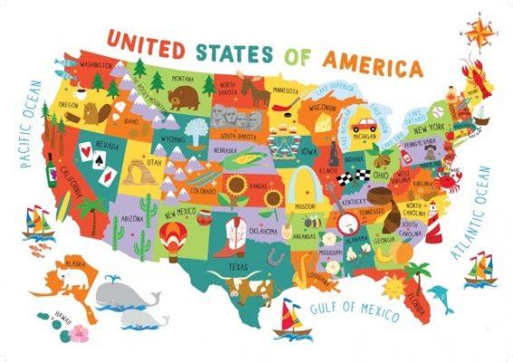 Immagini Cartina Stati Uniti.Mappa Degli Psicopatici D America Policy Maker
